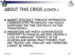 about this crisis contd3