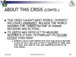 about this crisis contd4