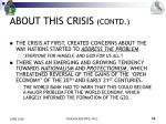 about this crisis contd6