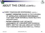 about this crisis contd8