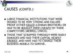 causes contd