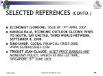 selected references contd
