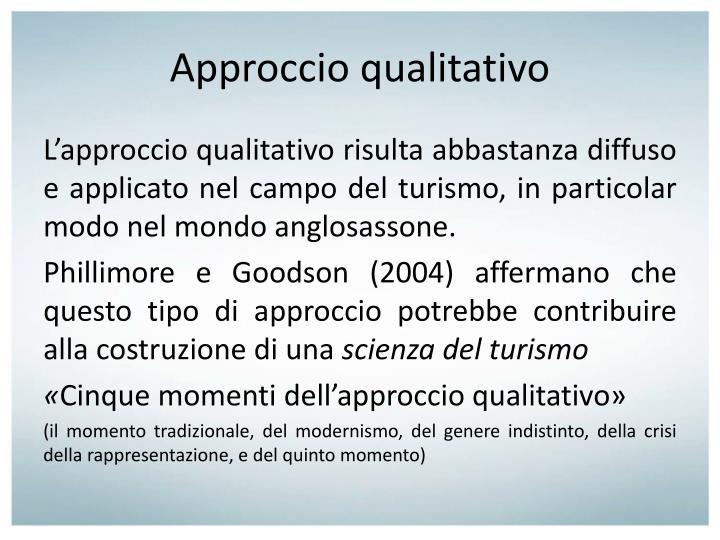 Approccio qualitativo