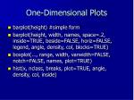 one dimensional plots