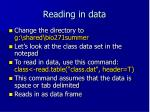 reading in data
