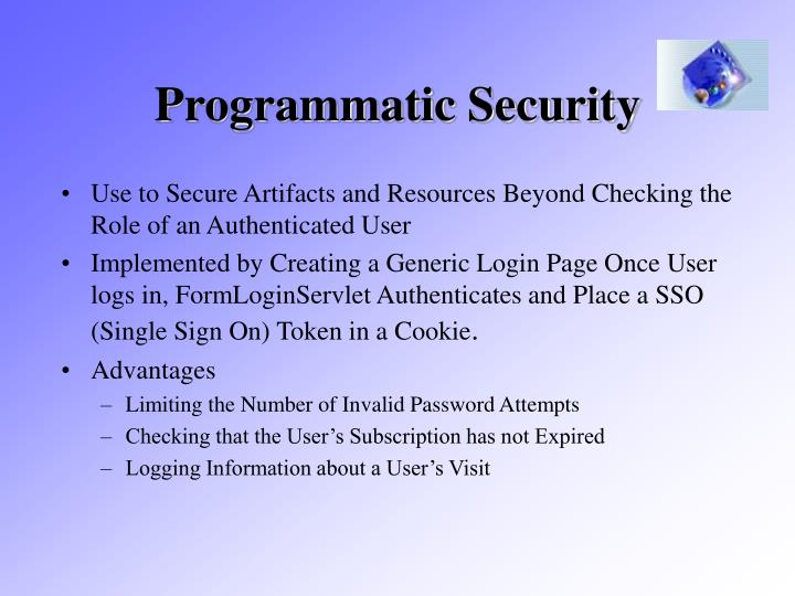 Programmatic Security