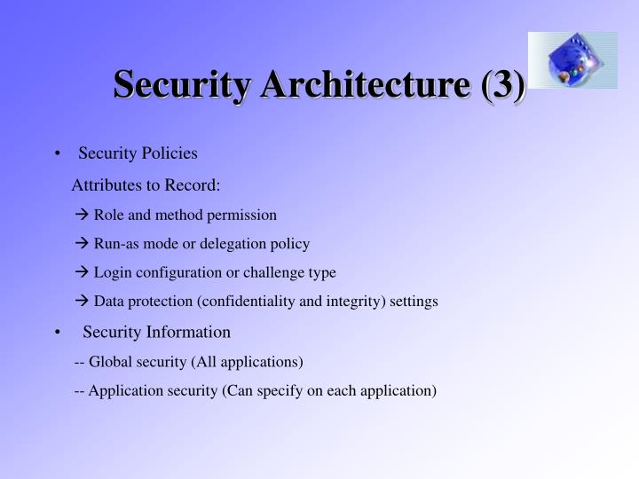 Security Architecture (3)