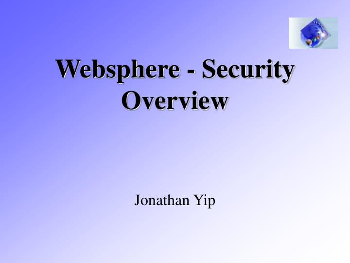 Websphere security overview