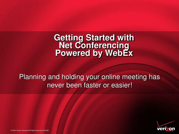 getting started with net conferencing powered by webex n.