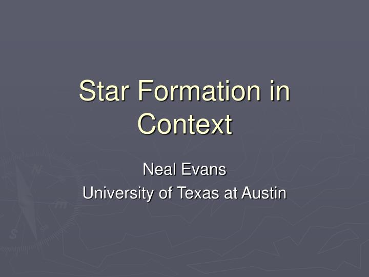 star formation in context n.