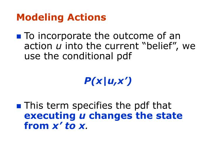 Modeling Actions