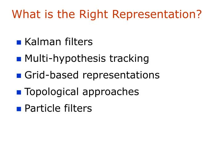 What is the Right Representation?