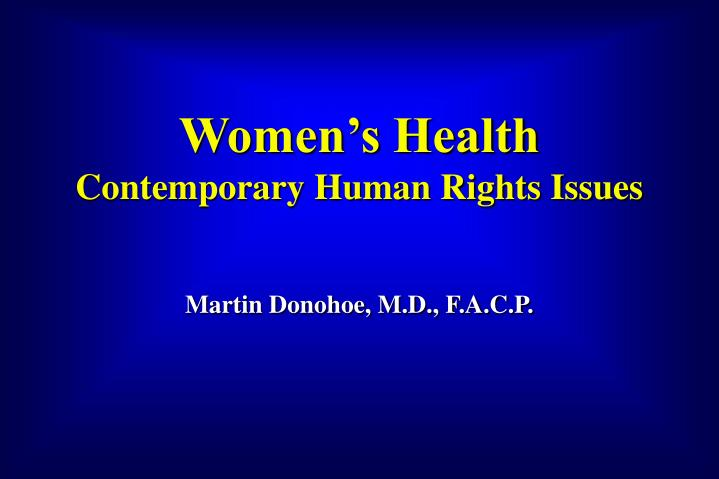 women s health contemporary human rights issues n.