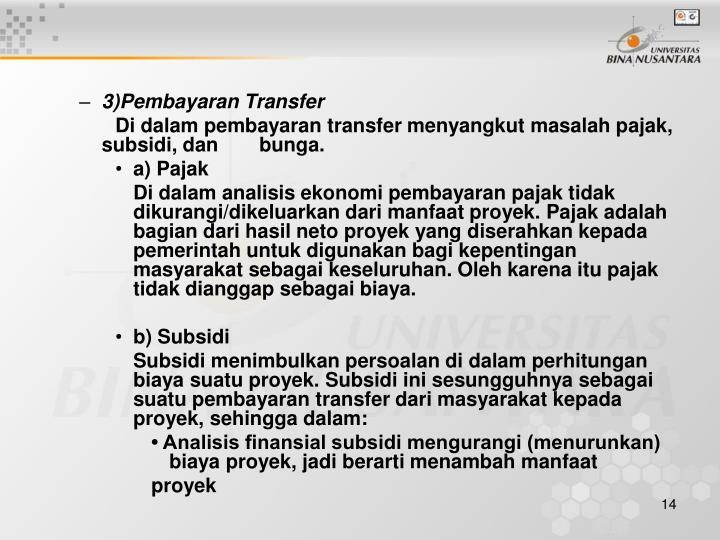 3)Pembayaran Transfer