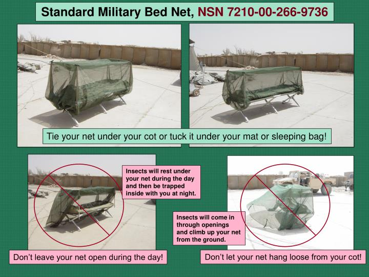 Standard Military Bed Net,