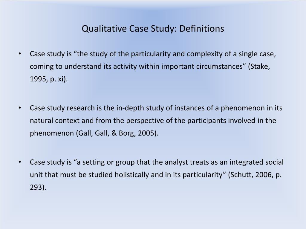 Case Study In Qualitative Research