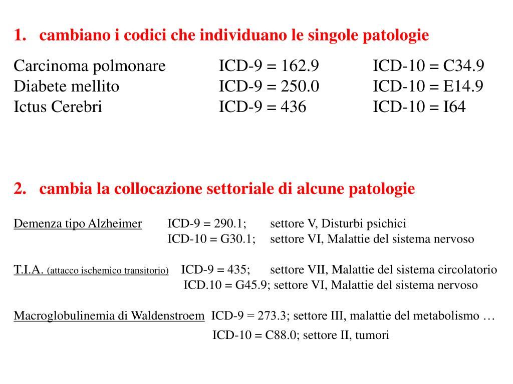 codice icd 9 per lo screening del cancro alla prostata