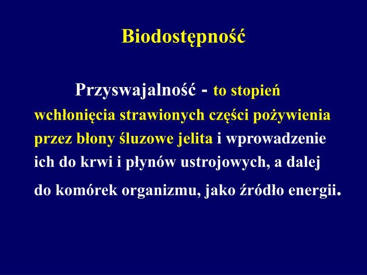 Biodostępność
