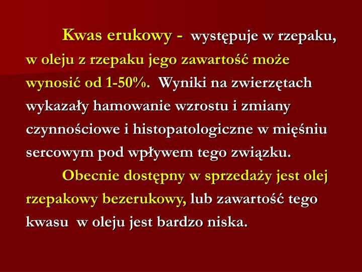 Kwas erukowy -