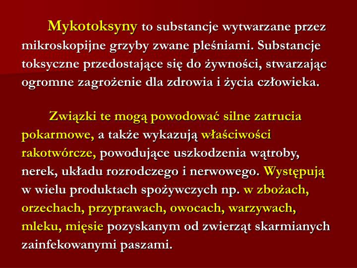 Mykotoksyny