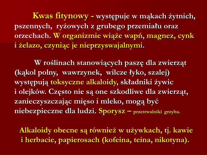 Kwas fitynowy -