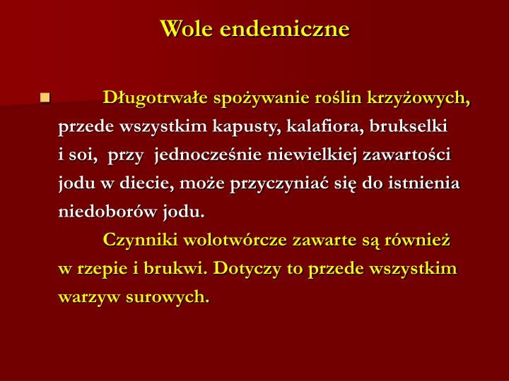 Wole endemiczne