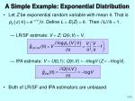 a simple example exponential distribution