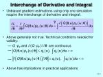 interchange of derivative and integral