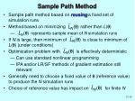 sample path method