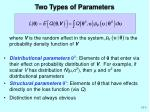 two types of parameters