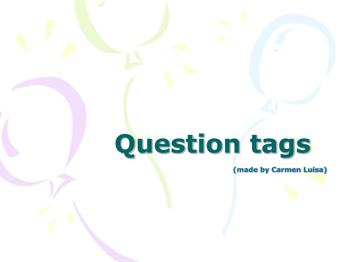 question tags n.