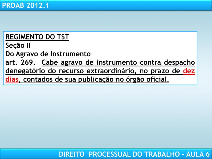 REGIMENTO DO TST