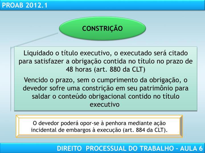 CONSTRIÇÃO