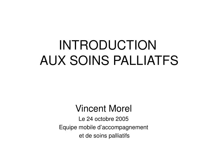 introduction aux soins palliatfs n.