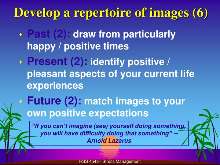 Develop a repertoire of images (6)