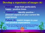 develop a repertoire of images 6