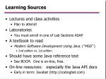 learning sources