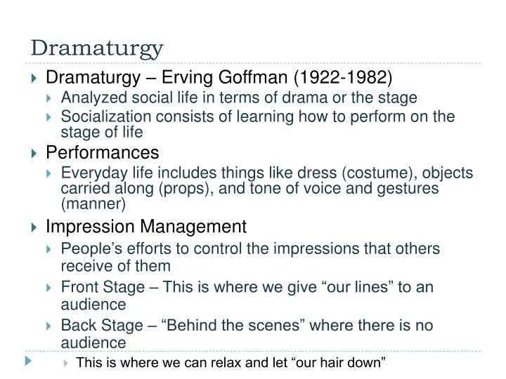 erving goffman role distance and the The fulcrum of his argument is the concept of role- distance, which he borrows  from the sociologist erving goffman it]he concept of role-distance relates to  the.