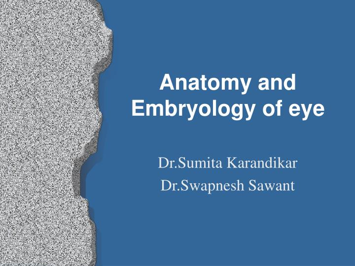 anatomy and embryology of eye n.