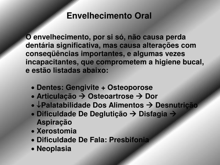 Envelhecimento Oral