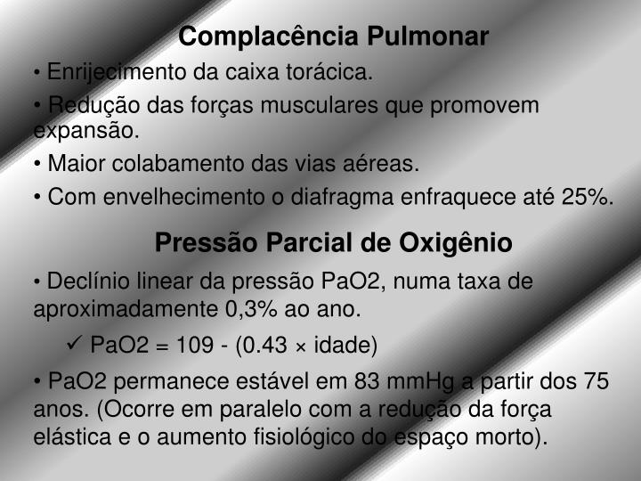Complacência Pulmonar