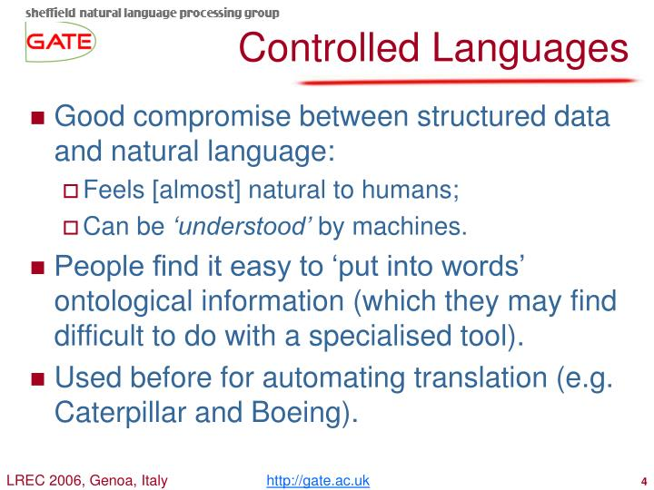 Controlled Languages