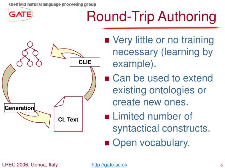 Round-Trip Authoring