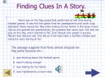 finding clues in a story14