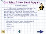 oak school s new band program