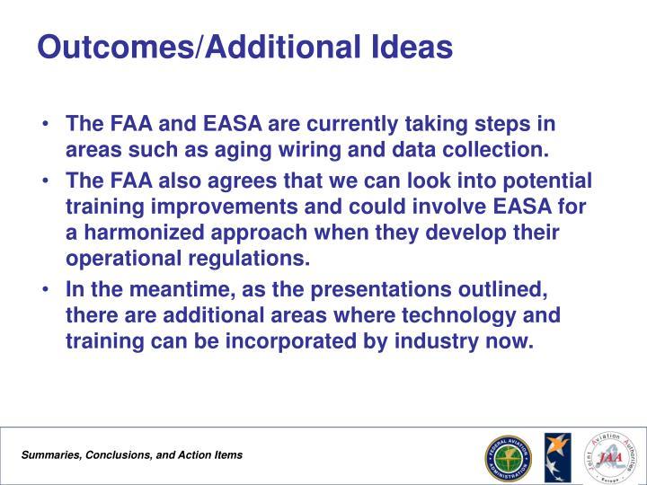 Outcomes/Additional Ideas