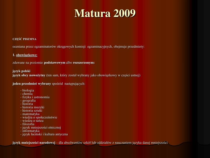 Matura 2009