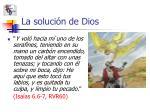 la soluci n de dios