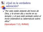 qu es la verdadera adoraci n13