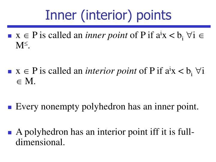 Inner (interior) points